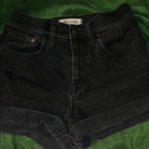 black madewell jean shorts